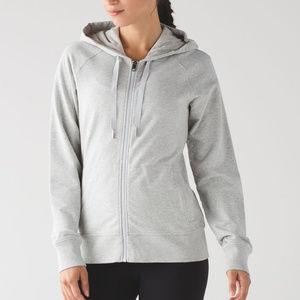 LULULEMON Split Hoodie sweatshirt Heather gray